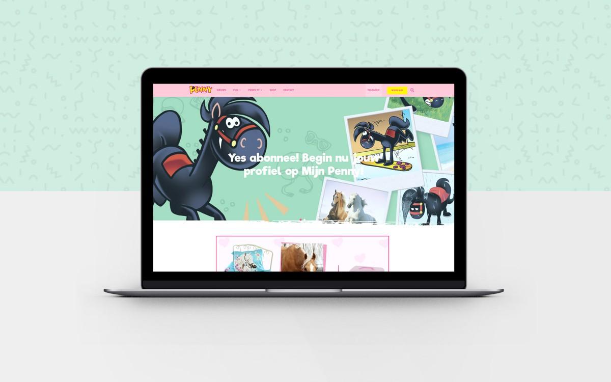 Nieuwe website voor paardenstriptijdschrijft Penny